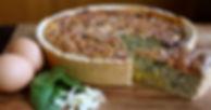 Zucchini, Spinach & Corn Quiche