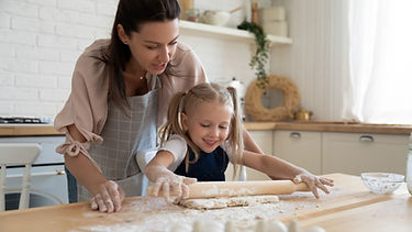 Learning to bake with Lighthouse Flour and Mum