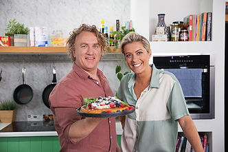 chef Adrian Richardson and nutritionist Rosie Mansfield as they cook up a storm on Good Chef Bad Chef