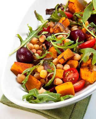 Spiced Roast Vegetable & Chickpea Salad