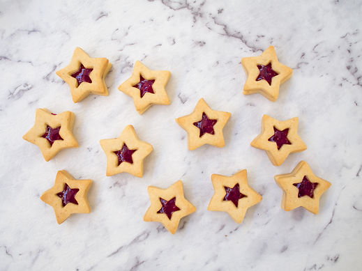 Jam Star Cookies