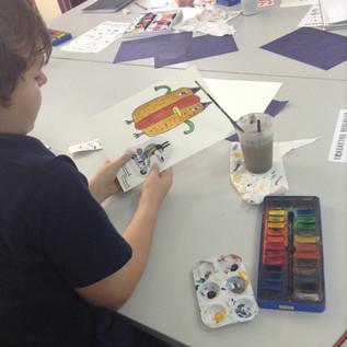 Student work character design workshop