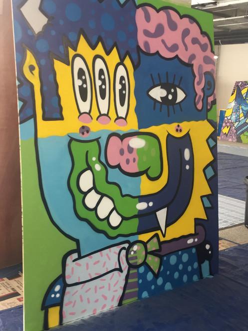 Mural representing design