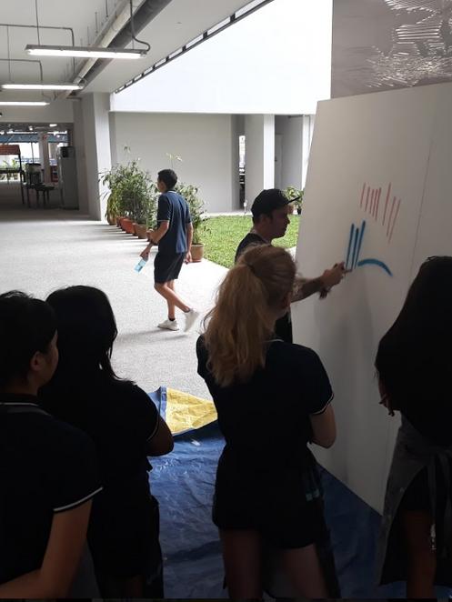 showing spray paint techniques.