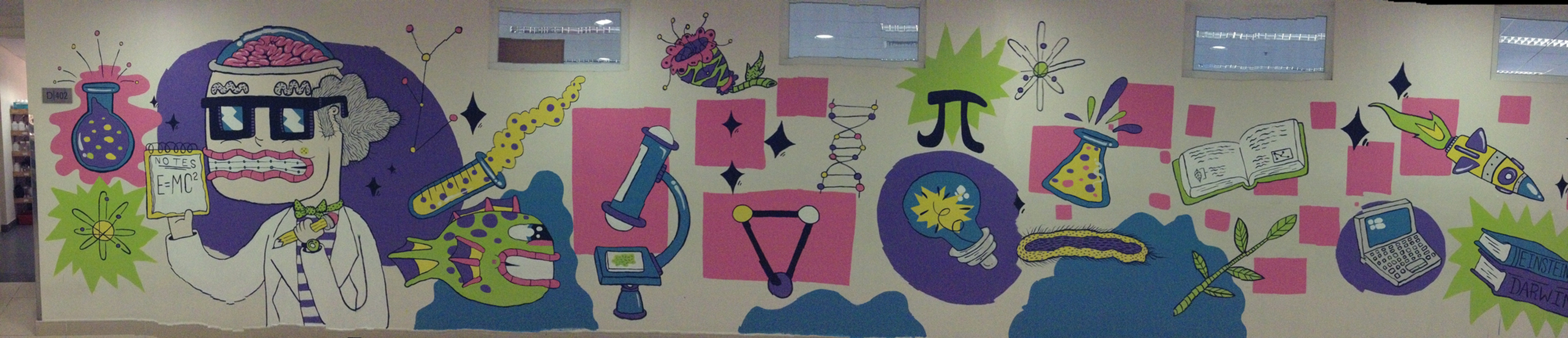 completed science mural