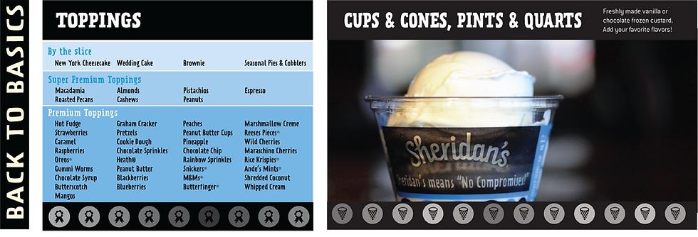 Sheridan's Frozen Custard Menu