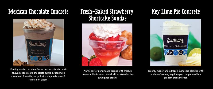 July and August Seasonal Frozen Custard Specials