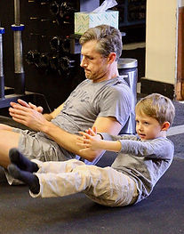 Nick Arganbright and son
