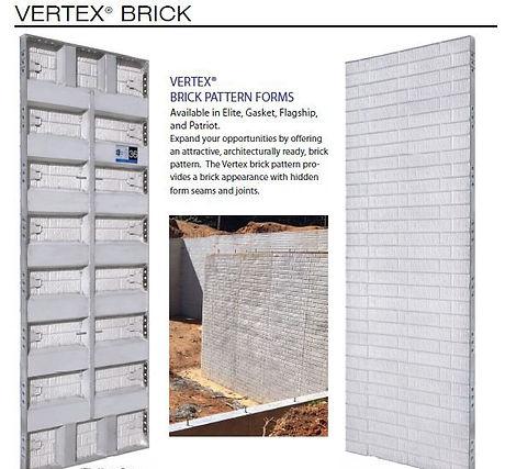 Vertex Brick Pattern Concrete Forms