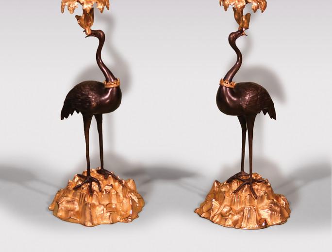 bronze and ormolu Candlesticks