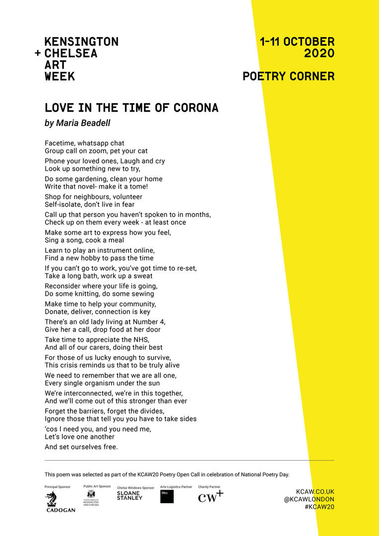 MARIA BEADELL | LOVE IN THE TIME OF CORO