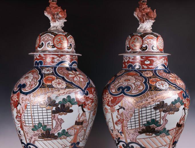 Japanese Imari porcelain Vases