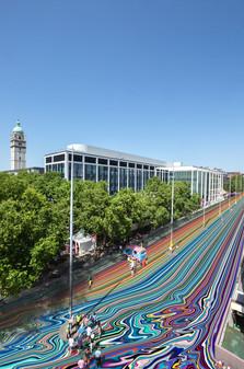 Fantasy of Exhibition Road by Ian Davenport