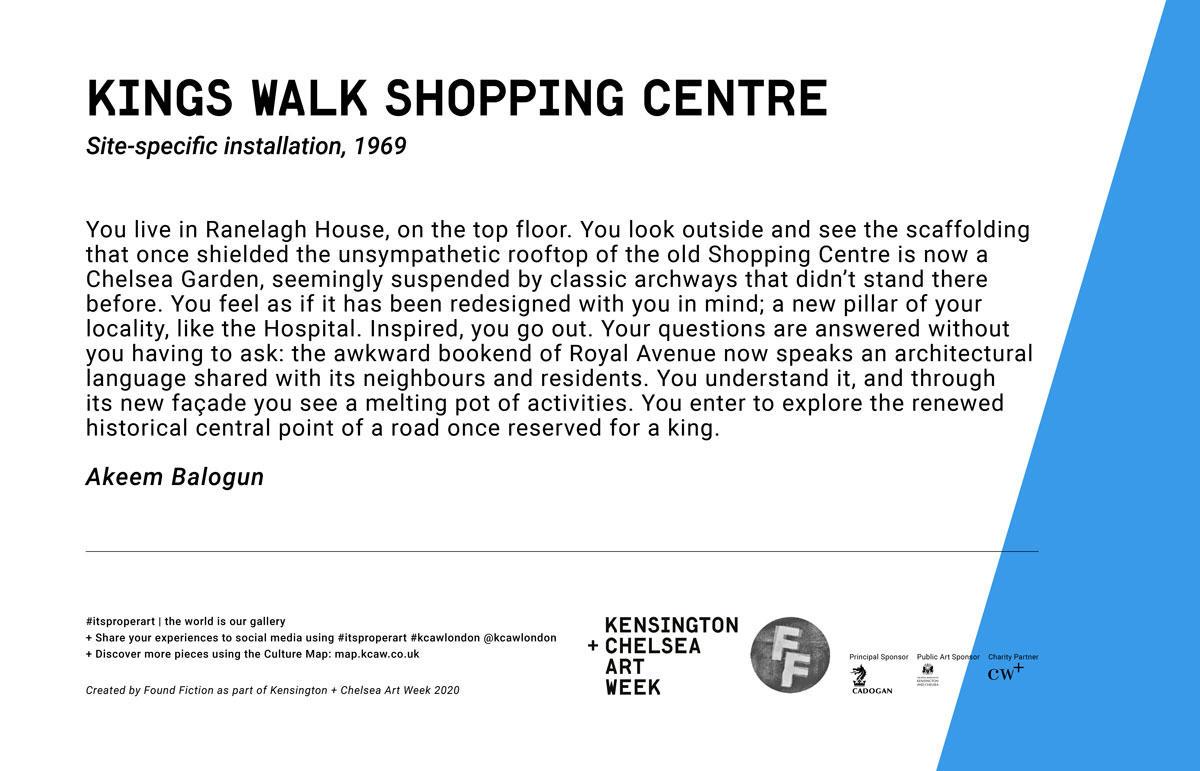 KING'S WALK SHOPPING CENTRE