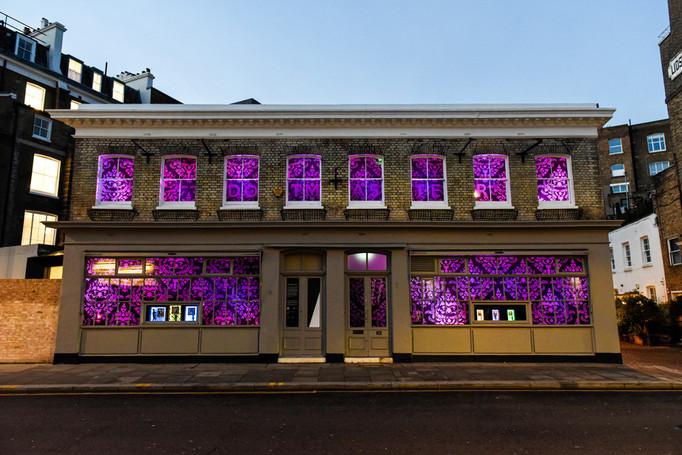 KCAW + Clear Channel Gallery Outside  Dotmasters' (Lite) High Street Window