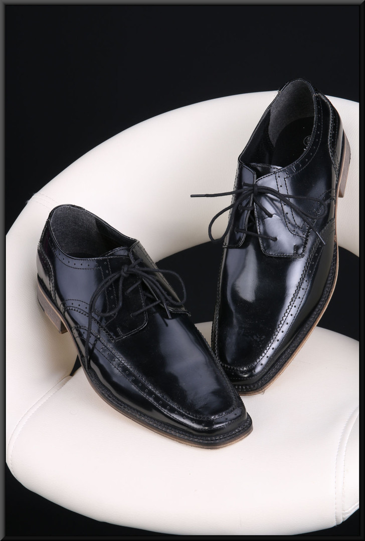 Men's black patent leather shoes size 11 by Redfoot