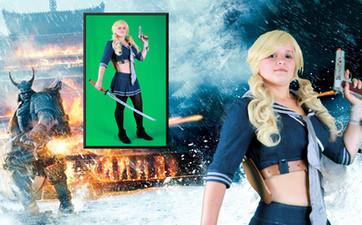 Greenscreen cosplay photography