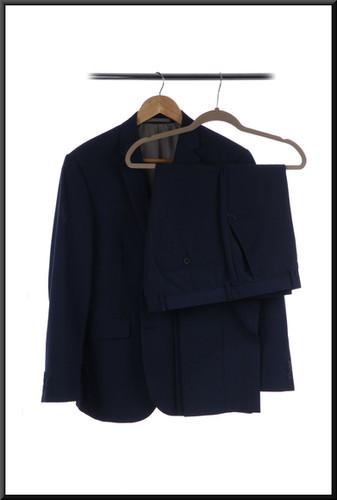 Men's s/b lounge suit chest 40 waist 34 inside leg 29 - steel blue