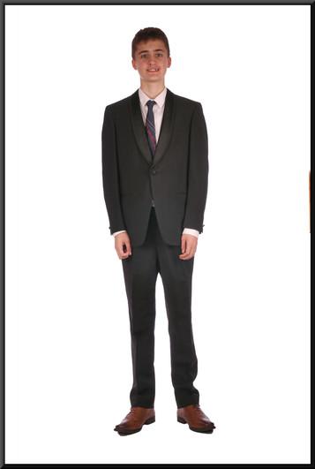 Black evening suit chest 38 waist 30 inside leg 31(?), black