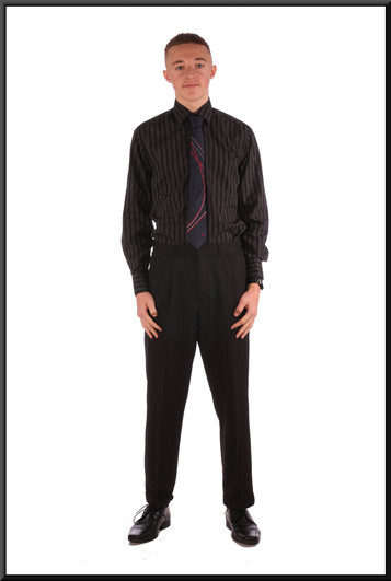Men's trousers W 32 I 29 - Charcoal grey.  Worn with shirt cat. no. 158