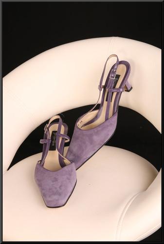 Ladies' slim fit mauve felt-effect shoes with a hint of sparkle (EU 38) size 5