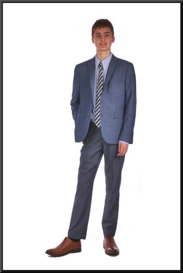 Mid blue lounge suit chest EU size 42 skinny fit waist 28 inside leg 31