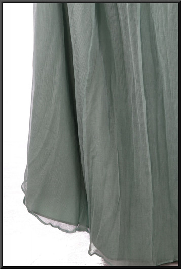 """Ruched boob-tube dress, strapless, boned bust and corset tie, net / silk skirt full length, size 20/24 in turquoise. Model height 5'7"""""""