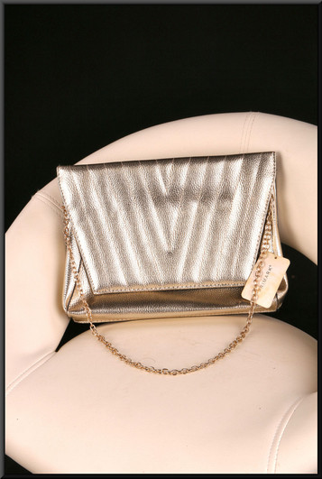 Gold glitter effect should bag with gold coloured carry chain