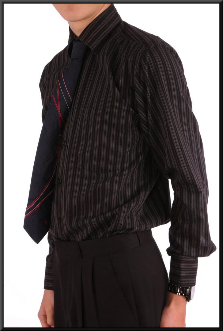Men's shirt collar 15 dark blue stripes