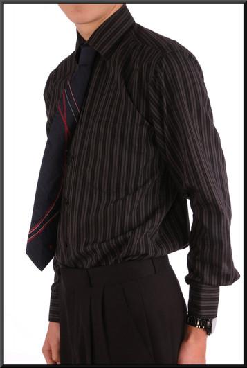 Men's shirt collar 15 - Dark blue stripes