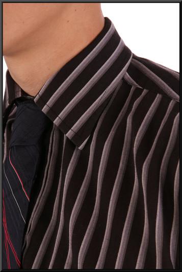 Men's shirt collar 15 - blue with light stripes