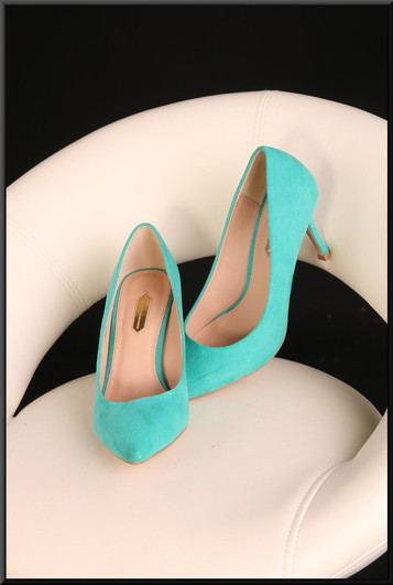 Ladies' sea green court shoes size 5