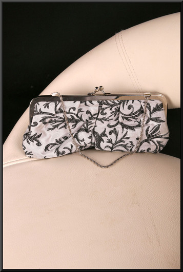 Silver and black satinette handbag / purse (Brand new on receipt) – pairs with cat. no. A152