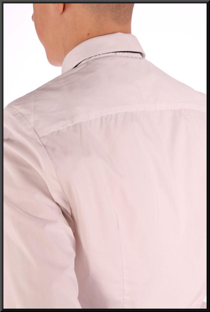 Men's micro-fibre shirt collar SMALL - white