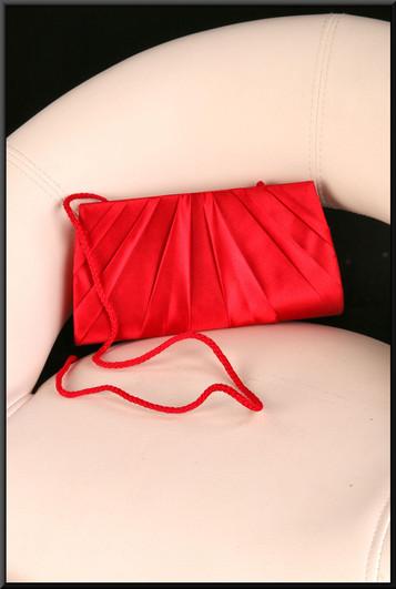 Small scarlet satinette shoulder bag (Brand new on receipt)