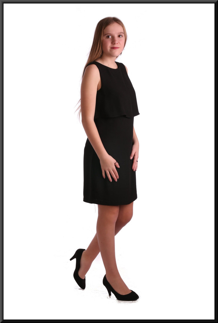 100% polyester knee-length cocktail dress - black