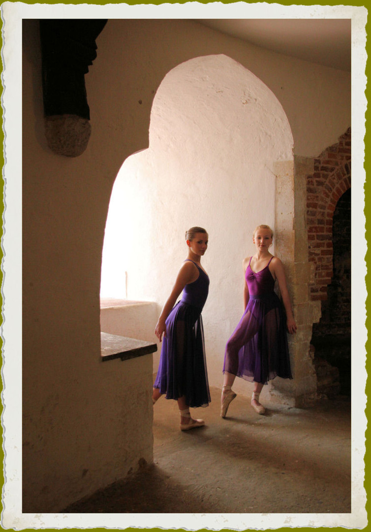 Ballerinas at Deal Castle in Kent