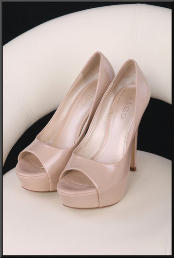 Ladies' nude colour toe-less evening shoes size 4 by Aldo