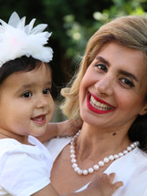 Family portraiture, mother and baby