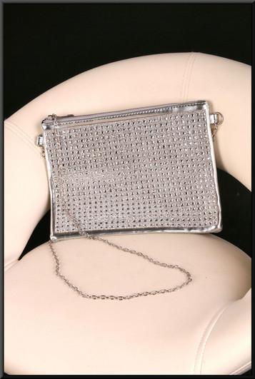 Diamanté effect shoulder bag