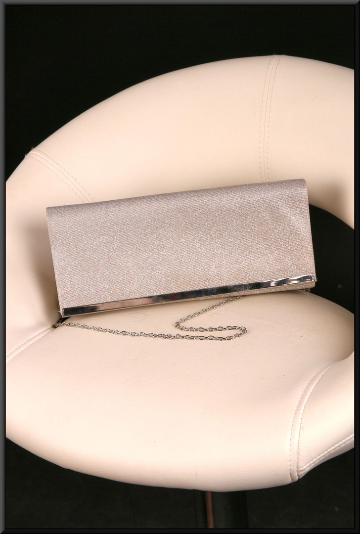 Silver glitter effect clasp / shoulder bag