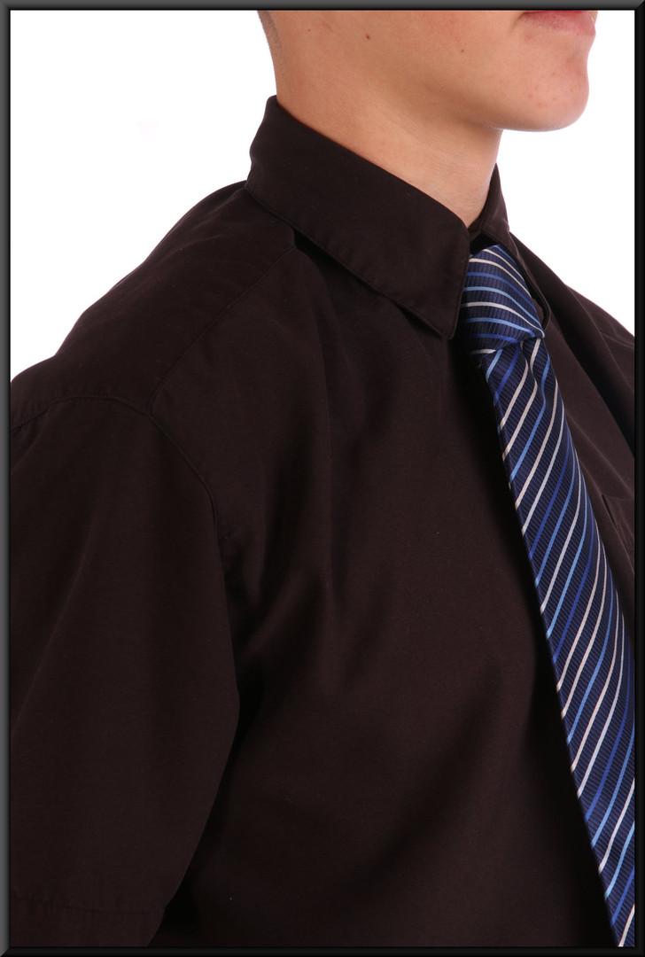 Men's micro-fibre shirt collar SMALL - black