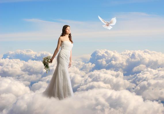 Walking in the clouds bridal wear