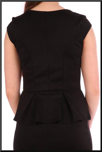 "Slimline cocktail dress - black, size 8. Model height 5'5"""