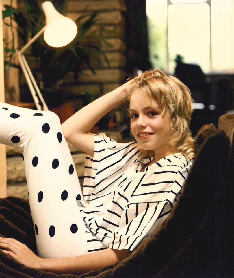 Teen portraiture taken in 1986