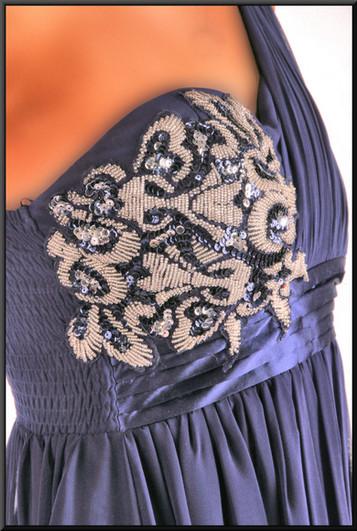 "Single strap mini dress, size 8 in royalblue. Model height 511"""