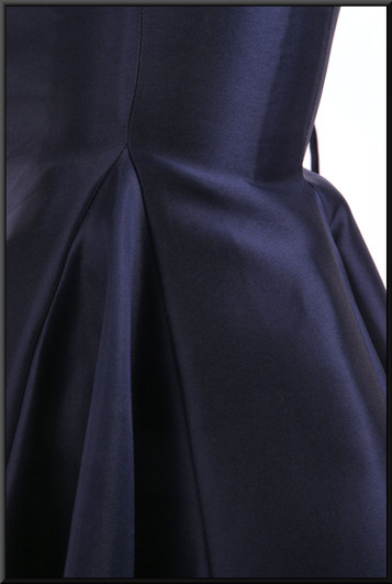 """Jessica Rabbit style strapless flared evening dress with corset tie (US size 4) - navy blue, size 10 Model height 5'9"""""""