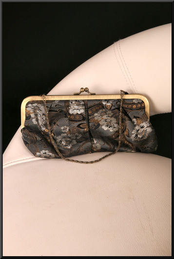 Dark green and gold satinette handbag / purse (Brand new on receipt) – pairs with cat. no. A151