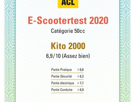 Kito2000 als Preis-Leistungssieger für Elektroroller im Retrolook - ACL Luxemburg Test 2020