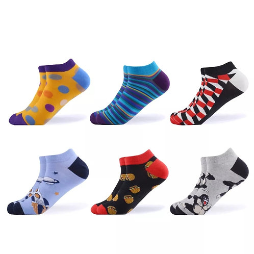 PACK 6 PAIRS OF ANKLE SOCKS